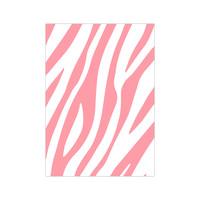 Card Zebra Pattern neon, per 10 pieces
