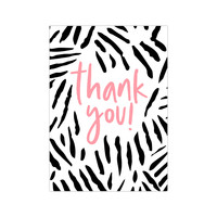 Card Thank you neon, per 10 pieces