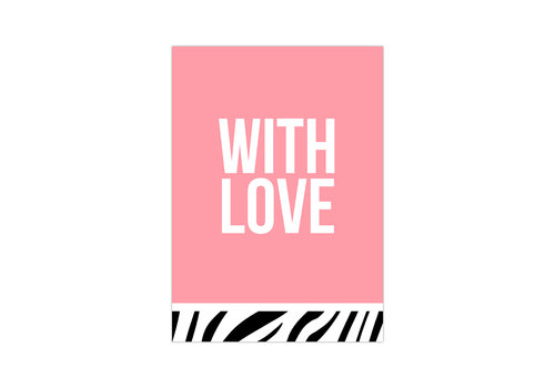 Studio Stationery Card With love neon, per 10 pieces
