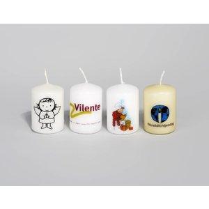 Bedrukte kaarsen 60/40 mm met foto, logo of tekst