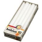 Bolsius Gotische kaarsen wit 10 stuks 245/24 mm