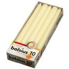 Bolsius  Gotische kaarsen ivoor 10 stuks 245/24 mm