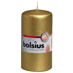 Bolsius Stompkaars 120/60 mm in de kleur goud