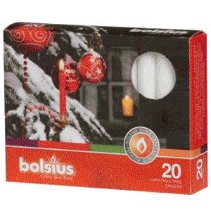 Kerstboomkaarsjes 97/13 mm wit. Korting bij meerdere doosjes
