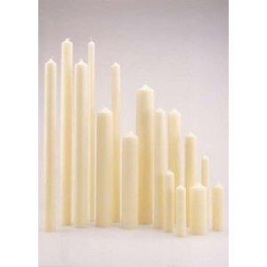 Mooie kerkkaarsen ivoor 250/50 mm