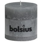 Bolsius kaarsen Stompkaarsen 100/100 mm lichtgrijs