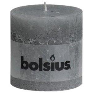 Bolsius Bolsius rustieke stompkaarsen lichtgrijs online in de kaarsenwinkel