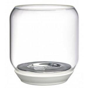 Bolsius Mirror houder 130/121 Wit met zilver