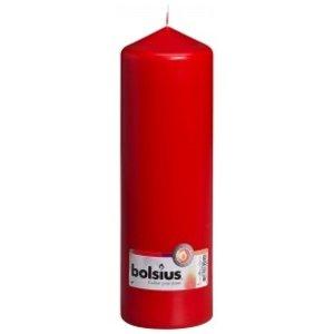 Bolsius Grote  kaarsen rood 250/80 mm