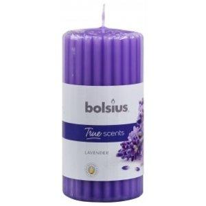 Bolsius Geribbelde stompkaars geur True Scents 120/60 Lavendel