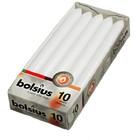 Bolsius Dinerkaarsen wit 10 stuks 230/20 mm