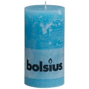 Bolsius Kleine Rustieke stompkaarsen 130/68 mm aqua