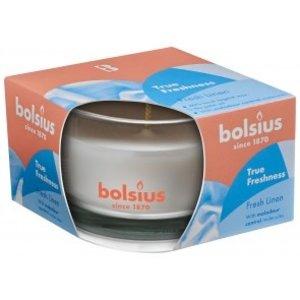 Bolsius Bolsius Geurglas small 80/50 True Freshness Fresh Linen