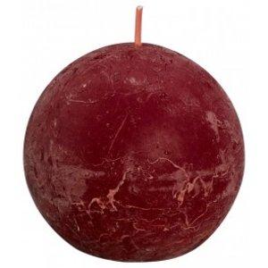 Bolsius Rustiek bolkaars shine 76 mm, Velvet Red