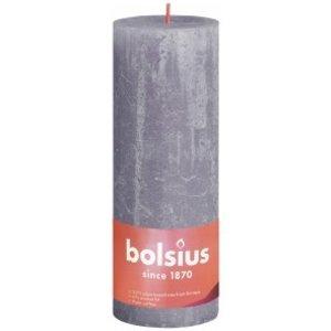 Bolsius Rustiek stompkaars 190/68 Frosted Lavender