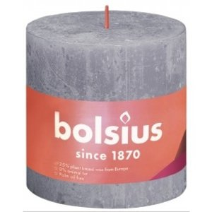 Bolsius Rustiek stompkaars 100/100 Frosted Lavender