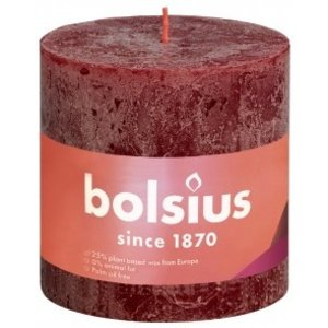 Bolsius Rustiek stompkaars 100/100 Velvet Red