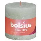 Bolsius Rustiek stompkaars 100/100 Foggy Green