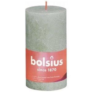 Bolsius Rustiek stompkaars 130/68 Foggy Green