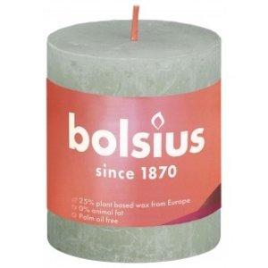 Bolsius Rustiek stompkaars 80/68 Foggy Green