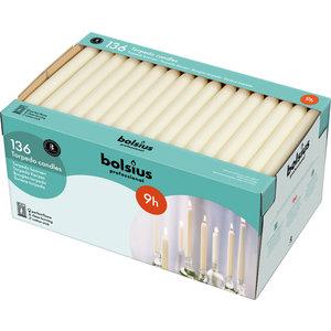 Bolsius Bolsius Dinerkaarsen 136 stuks ivoor 240/22