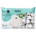 Bolsius Waxinelichtjes 200 stuks in een zak 4 branduren