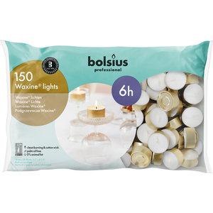 Bolsius Waxinelichtjes 150 stuks in een zak 6 branduren