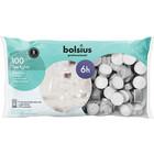 Bolsius Waxinelichtjes 100 stuks in een zak 6 branduren