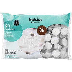 Bolsius Waxinelichtjes 90 stuks in een zak 8 branduren