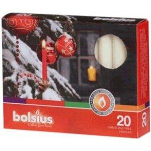 Bolsius Kerstboomkaarsjes ivoor 20 stuks. Staffelkorting bij bestelingen van 10 doosjes of meer.