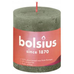 Bolsius Rustiek stompkaars 80/68 Fresh Olive