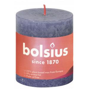 Bolsius Rustiek stompkaars 80/68 Twilight Blue