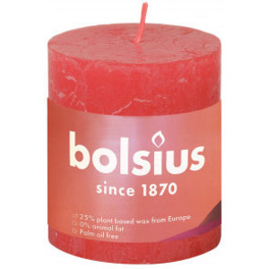 Bolsius Rustiek stompkaars 80/68 Blossom Pink
