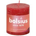 Bolsius Rustiek stompkaars 80/68 Delicate Red
