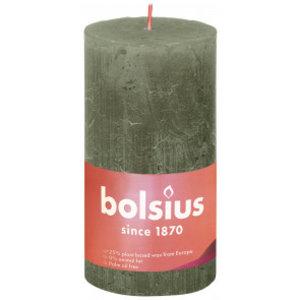 Bolsius Rustiek stompkaars 130/68 Fresh Olive