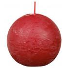 Bolsius Rustiek bolkaars shine 76 mm, Delicate Red