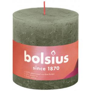Bolsius Rustiek stompkaars 100/100 Fresh OLive