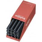 Bolsius Rustieke tafelkaarsen Shine Stormy Grey 270/23 mm 16 stuks in een doos