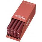 Bolsius Rustieke tafelkaarsen Shine Velvet Red  270/23 mm 16 stuks in een doos