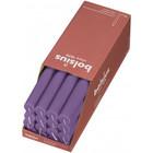 Bolsius Rustieke tafelkaarsen Shine Vibrant Violet  270/23 mm 16 stuks in een doos