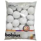 Bolsius kaarsen Drijfkaarsen kleur wit 30/45 mm 20 stuks in een zak