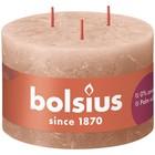 Bolsius Rustieke grote Stompkaars 90/140 mm Creamy Caramel met 3 lonten