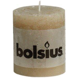 Bolsius Bolsius rustieke stompkaarsen 80/68 mm pastelbeige