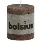 Bolsius kaarsen Stompkaarsen 80/68 mm Chocolade bruin