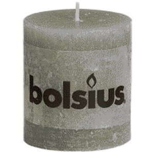 Bolsius Bolsius rustieke stompkaarsen 80/68 mm lichtgrijs