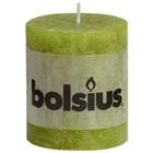 Bolsius kaarsen stompkaarsen 80/68 mm groen