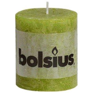 Bolsius kaarsen Bolsius rustieke stompkaarsen 80/68 mm groen
