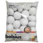 Bolsius Drijfkaarsen kleur wit 30/45 mm 16 zakken met 20 stuks in een zak