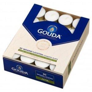 Gouda kaarsen Waxinelichtjes 4,5 uur doos 60 16/38 Wit