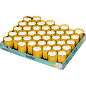 Bolsius Horeca clear cups 55/42 tray 40 Amber